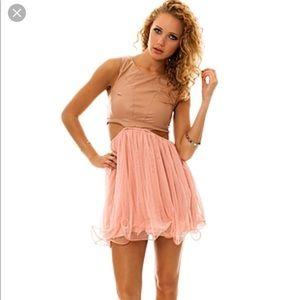 UNIF pink Prima Dress L